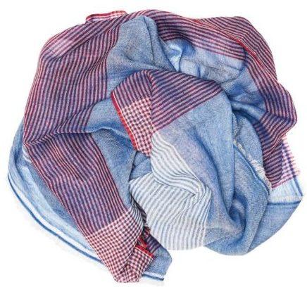 2 - wollschal plaid stripe